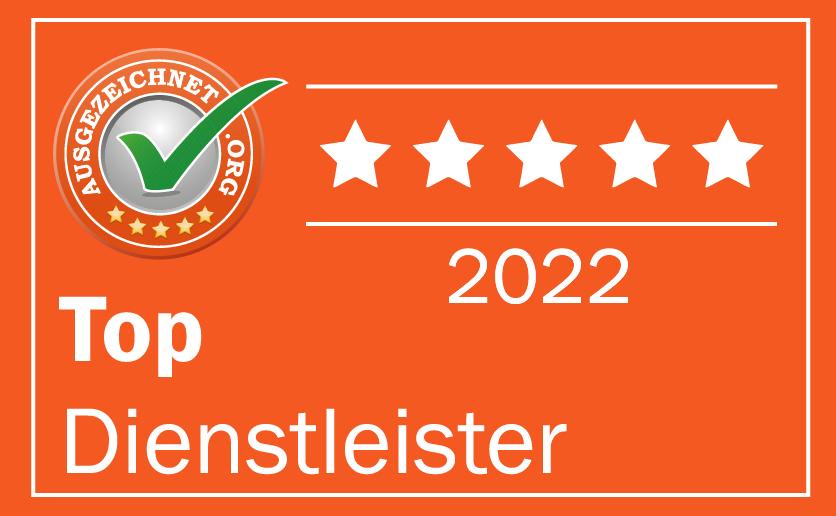 Ausgezeichnet.org TOP Dienstleister 2021